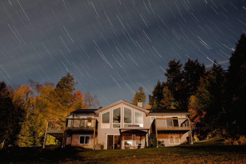 a design build house at night in Arlington VA